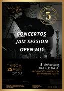 MÚSICA: Jam Session - Palco Aberto - 5º aniversário do Duetos da Sé