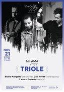 "MÚSICA: ""Triole""  - Bruno Margalho, Carl Nevitt & Vasco Furtado – Concerto ""ALFAMA JAZZ"""