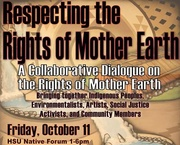 Kaitlin to speak at Rights of Mother Earth event