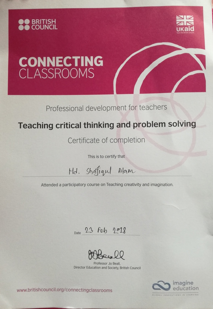 Critical Thinking and Problem Solving Certificate