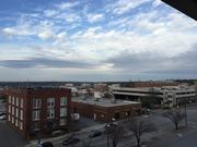 View from a Cola. parking lot. Love that building name (Hussey Gay Bell)!