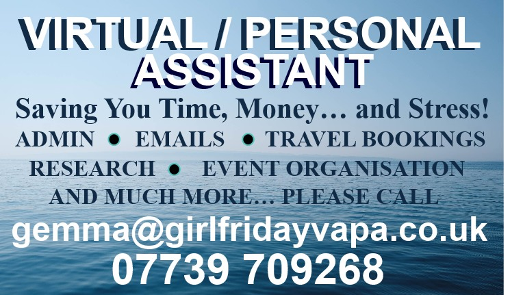 Supporting people and businesses to organise busy work and personal lives, saving time, stress and money. For regular or one-off help with admin, email, diary management, holiday cover call Gemma now - daily, hourly and per project rates