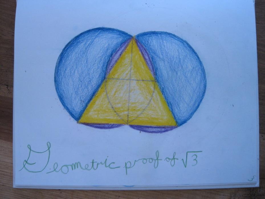 Geometric Proof of Root Three