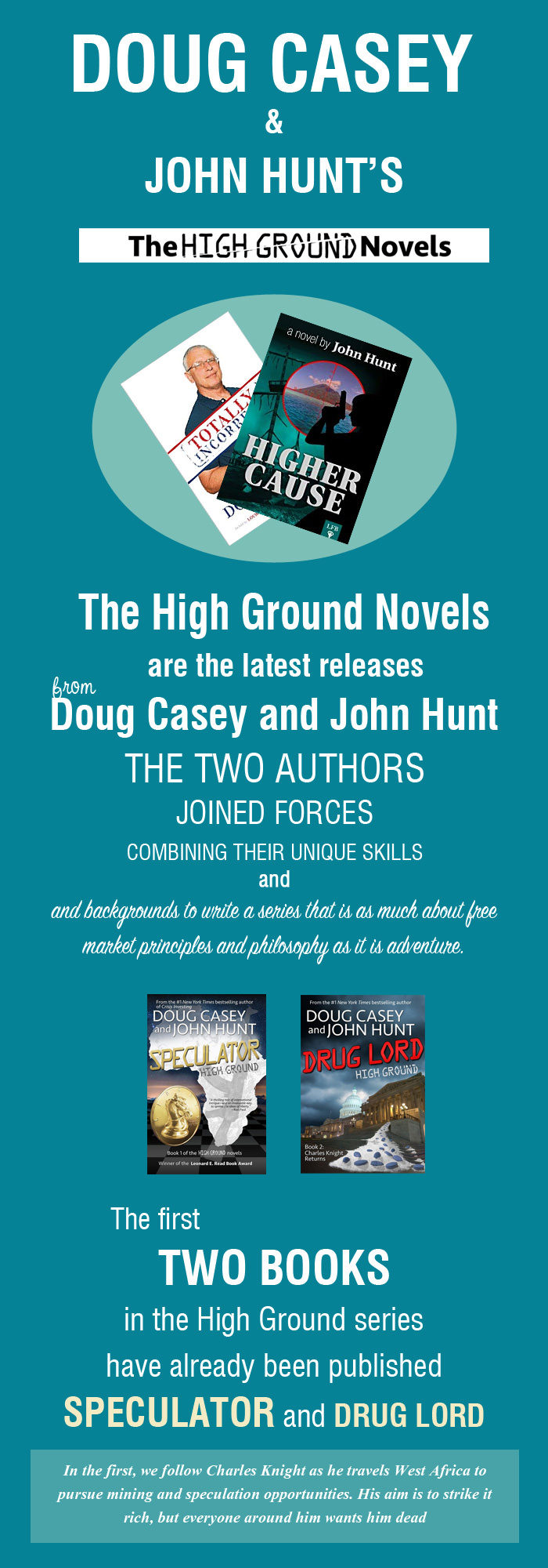 The High Ground Series – The Latest Series of Novels by Doug Casey and John Hunt