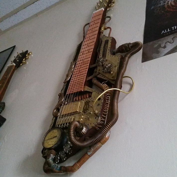 Steampunk lap steel guitar #2