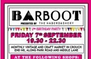 BARBOOT Friday, 5 October 2012, 19:30 - 22:30 at Crouch End