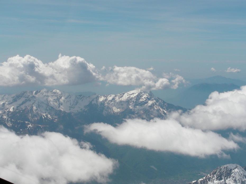 Blick auf die Alpen beim Lago di Como