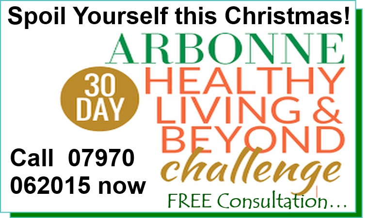 The perfect way to recuperate after the excitement (and indulgences!) of the Festive Season - take the Arbonne '30 Days to Healthy Living and Beyond' Challenge! Call Barbara to discover how to start the New Year with a new, healthier you!