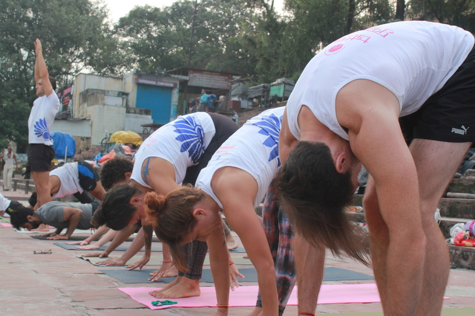 108 Times Surya Namaskar in Rishikesh India