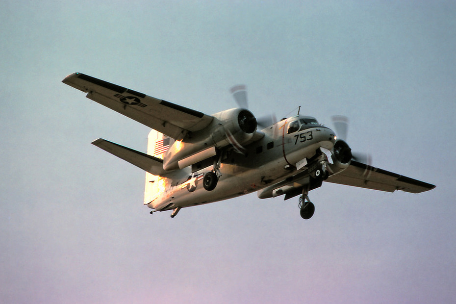 C-1A Trader ready to land