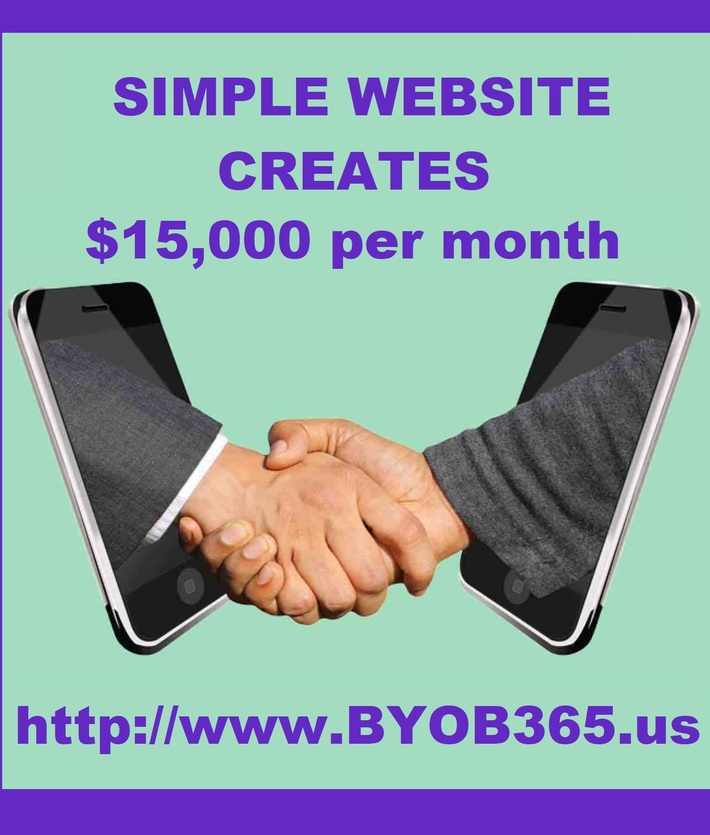 Shaking Hands Thru Cell Phones - $15,000 per month purple
