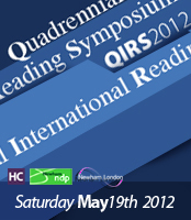 QIRS - QUADREANNIAL INTERNATIONAL READING SYMPOSIUM 2012