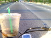 Bike the Drive 2009, My morning coffee