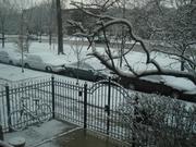 it snowd outside