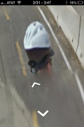Google street view bike rider