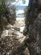 Old canoe passage - Banaba