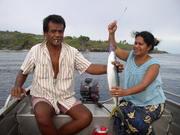 Fishing off the coast of Banaba