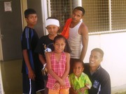 Viliame, Stanlie, Cherry & Clifford suppoting Eliot & Dad