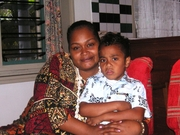 Toua & Mum at Daddy's house