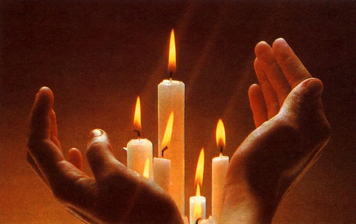 candles hands