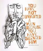 Ben Shahn Poster-Silencing as Violence