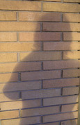 My shadow taking a photograph