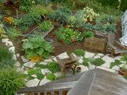 concrete pavers back garden 2007