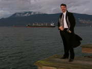 Corporate Jay in his Outdoor Office in Vancouver