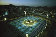 The Holy Kaba in Mecca at night