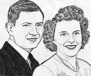 My parents when I was young  Sketch by Marique