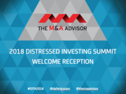 2018 Distressed Investing Summit Welcome Reception