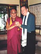 With the Dalai Lama in India
