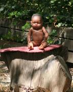 baby meditating