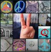 Throwing a Peace Sign
