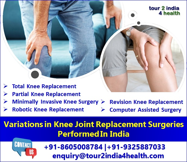 Variations in Knee Joint Replacement Surgeries Performed In India