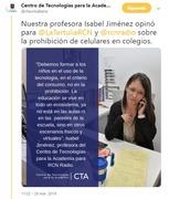 Entrevista RCN - Tema: Prohibición del uso del Celular en los colegios