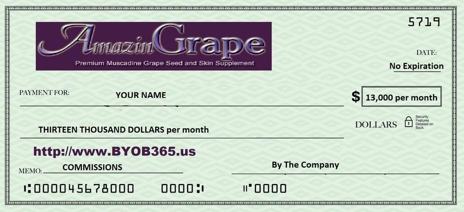 AmazinGrape Check - No Expiration - www.BYOB365.us