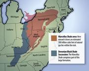 Maps of the Marcellus