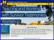 U of M Flint Workshop
