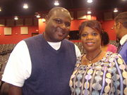 Reporter, Terrance Bates of Eyewitness News and Loretta McNary, The Loretta McNary Show