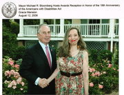 NEW YORK CITY MAYOR MICHAEL R. BLOOMBERG AND I AT GRACIE MANSION