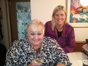 Jane and  patti at book club