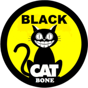 Black cat Bone sticker smile