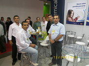 Eu, Tadeu, Marcelo, Jô ( Colorquimica ) Alfredo Gamo, Luiz Henrique e Adilson ( Cebractex ) na Febratex 08