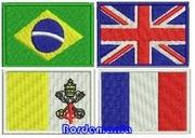 Bandeiras Bordadas termo colantes
