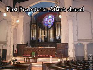 First Presbyterian Church Atlanta chancel