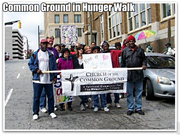 Common ground hunger walk