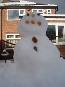 we made a giant snowman