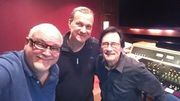 With Bernie Grundman & Steve Oberhoff at the Bernie Grundman Studios