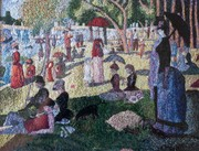 Sunday in the Park by Seaurat interpreted in thread by Dina Kassel